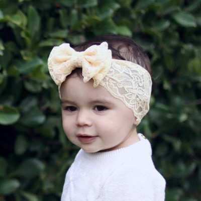 Newbron Baby Big Bow Headband Matching Lace Hairbands Photo props Turban Knot Soft <strong>Hair</strong> <strong>Accessories</strong>