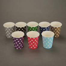 Wholesale Colorful Dots Disposable <strong>Paper</strong> Coffee Cup