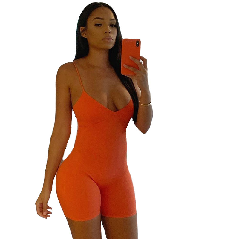 90814-MX18 summer shorts spaghetti strap hot girls jumpsuit