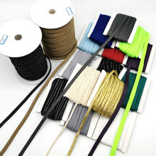 Widely use hot <strong>sale</strong> 5mm 1cm flat rope for shoelace or drawstring polyester flat cord in roll