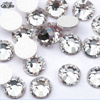 SS12 non hotfix rhinestones Clear Color High Quality Nail Crystal
