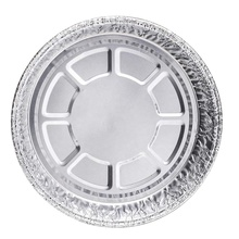 7&quot; Takeout to-Go Round Disposable Aluminum Foil Pan 7 <strong>1</strong>/8&quot;<strong>x</strong> 7 <strong>1</strong>/8&quot; <strong>x</strong> <strong>1</strong> <strong>1</strong>/2&quot; deep