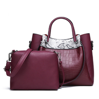 Trendy emboss Leather handbag for lady, purses handbags