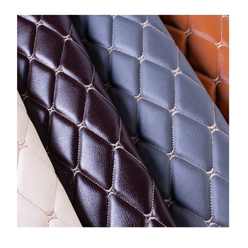 Recycled Cuerina Sintetica Diamond Stitching Bubble Leather Fabric 5D Car Carpet Floor Mat Material Rolls