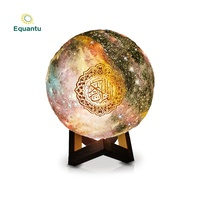 Hot selling Portable quran speaker touch moon lamp led Light wireless quran speaker