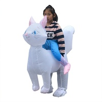 Funny Children Inflatable Pet Cat Costume Cosplay Blowup Suit Fancy Halloween Carnival Party Dress Costumes