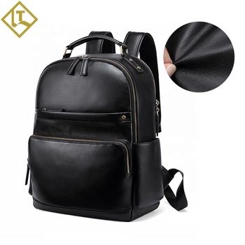Wholesale custom logo men backpack luxury classic fashion business  school leather casual backpack bags
