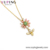 YL necklace-01127 xuping new arrival gold plated fashion women wholesale 14k gold color pendant necklace