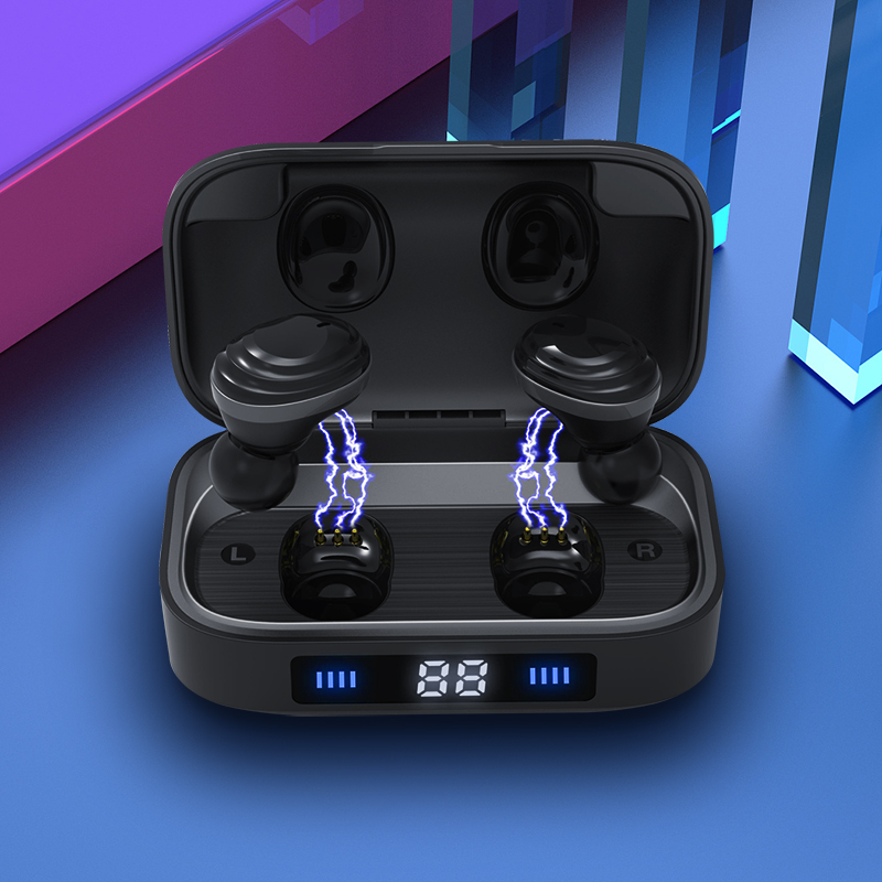 Newest TWS Wireless Earbuds <strong>Mini</strong> IPX7 Waterproof Bluetooth V5.0 Earphone with 2000mAh Power bank