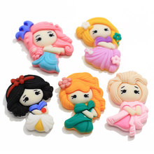New Item Assorted of Kawaii Cartoon Crown Princess Cabochons Planar Resin Cabs Cute <strong>Charms</strong> for Slime Hair Bow Center