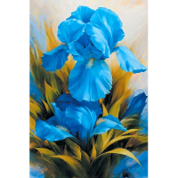 Needlework Diy Diamond Painting Beautiful Blue Flower Picture Wall Art Diamond Embroidery European Home Decor