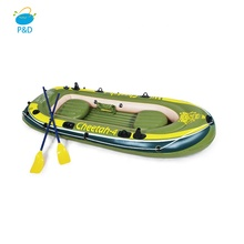 OEM Factory Price PVC Hull material 4 Person rowing <strong>boat</strong> with hand pump outdoor inflatable fishing <strong>boat</strong> for sale