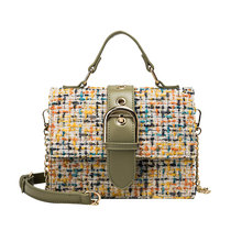 Angedanlia winter wholesale guangzhou factory price tweed shoulder bag for women design handbags with <strong>chain</strong>