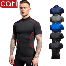 short sleeve custom compression logo gym sportswear fitness clothing wear jacket tights t shirt tops apparel for <strong>men</strong>