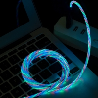Magnetic attraction usb 3.0 charger 3 en 1 megnetic led charging cable 3 in 1 quick charge mobile multi lighted fast date cable