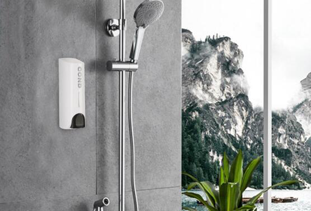 Wall-mount Shower Bath Shampoo Dispenser Liquid Soap Container Bathroom Washroom Accessories