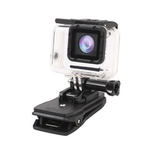 360 Degree Rotation Quick Attach Bag Holder Clip/Clamp for Gopro Hero 5 4/3+ 3 2 Sjcam GITUP2 XIAOMI <strong>YI</strong> 4k Action <strong>Camera</strong>