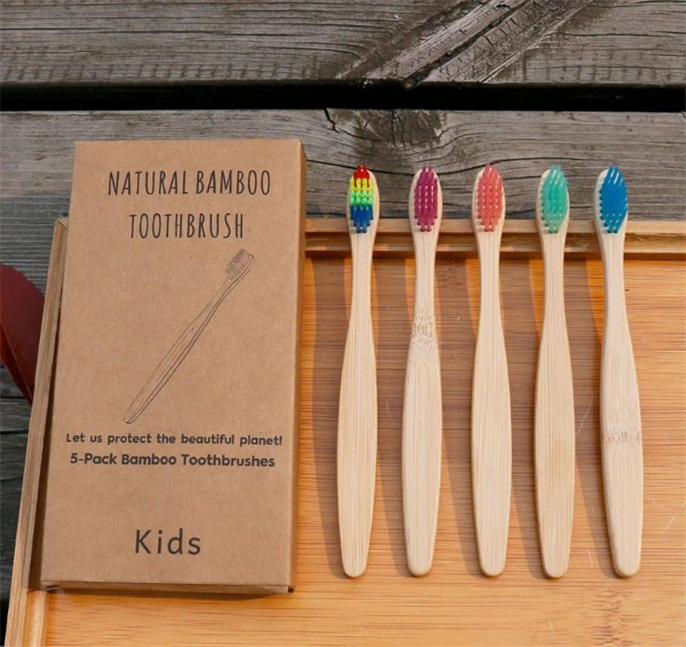 2019 new 100% biodegradable kids toothbrush bamboo  with logo