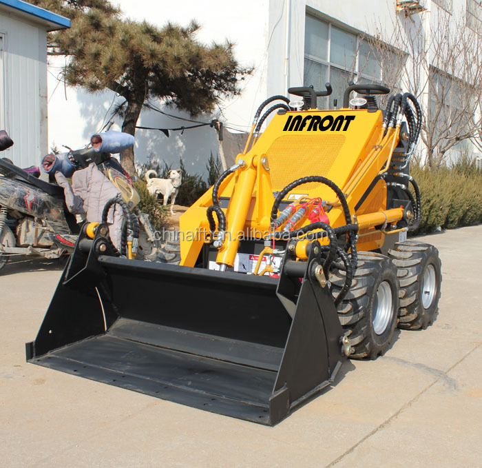 China mini loader with stump grinder for sale