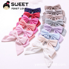 Wholesale cotton and linen swallowtail butterfly bow <strong>hair</strong> clip designed for girls children's <strong>hair</strong> <strong>accessories</strong>