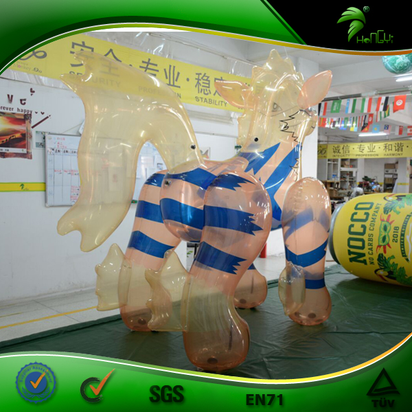 Hongyi Clear Inflatable Dog Toy, Transparent PVC 0.4MM Inflatable Arcanine