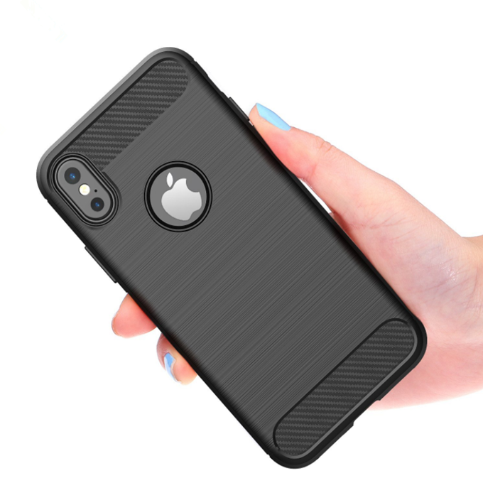 High Quality Soft Tpu Carbon Fiber Wire Drawing Mobile <strong>Phone</strong> Back Cover Case for LG W30/<strong>W10</strong>/Stylo 5