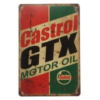 Stock Motor oil vintage sign home pub bar coffee shop decor custom retro metal sign tin sign