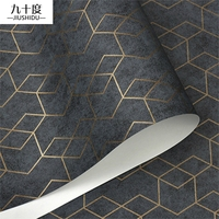 Dark Grey Luxury Geometric Wallpaper Roll Black Gray Wall Paper Modern Design Bedroom Living Room Background Home Wall Decor