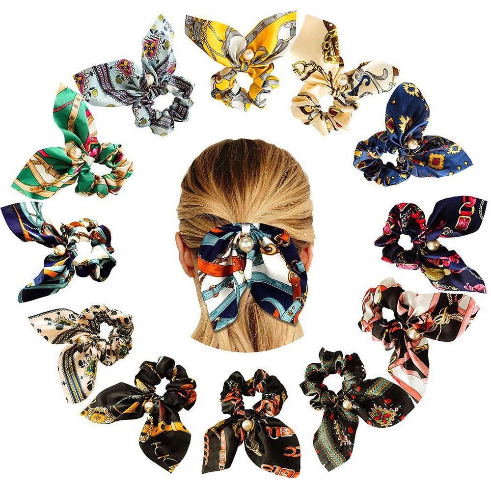 2019 New 9 CM <strong>Hair</strong> Bow Scrunchies Women's <strong>Hair</strong> <strong>Accessories</strong>