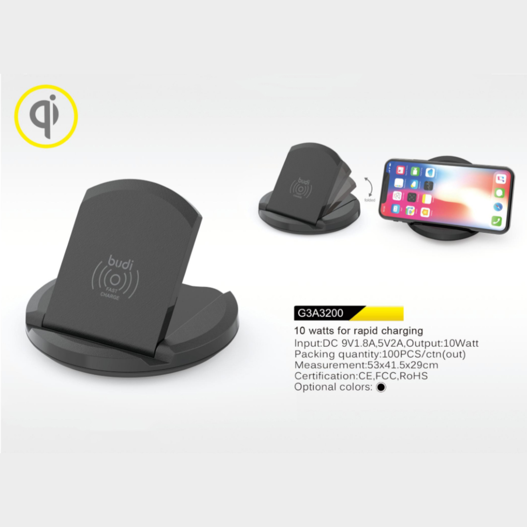 hot selling budi 5w wireless charger usb cables SIM kit memory reader phone holder LED light in a multi functions charging set