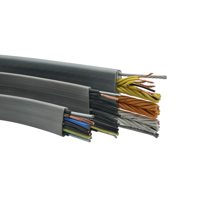 16*2.5mm2 <strong>H05VVH6</strong>-<strong>F</strong> Electric Power Lift Travelling Cable Elevator Flat Travel Cable Steel Wire Cable