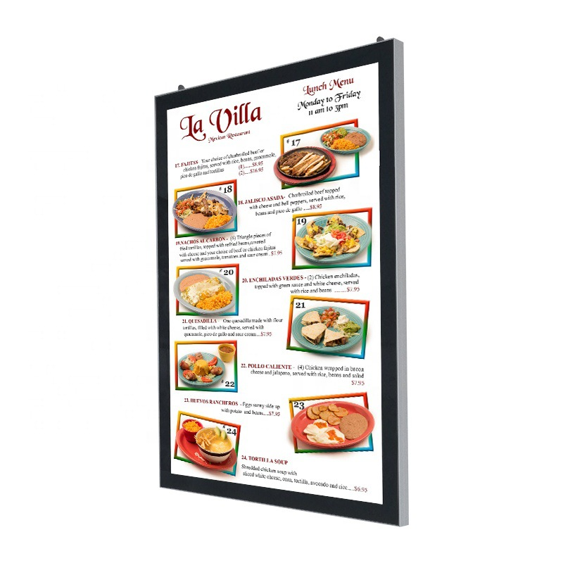 Factory Custom <strong>LED</strong> Price List Lightbox Magnetic Menu Light <strong>Box</strong> For Burger Restaurant