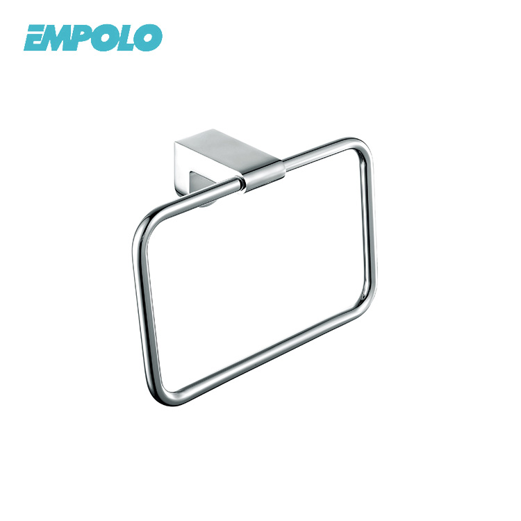 Lower Price Simple Factory Directly Brass Metal Wall Mounted Towel Ring