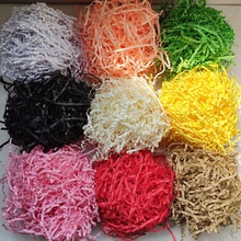100g/bag Decorative Crinkle Cut Raffia Shredded Kraft <strong>Paper</strong> Crinkle Gift Box Filler Crinkle <strong>Paper</strong>