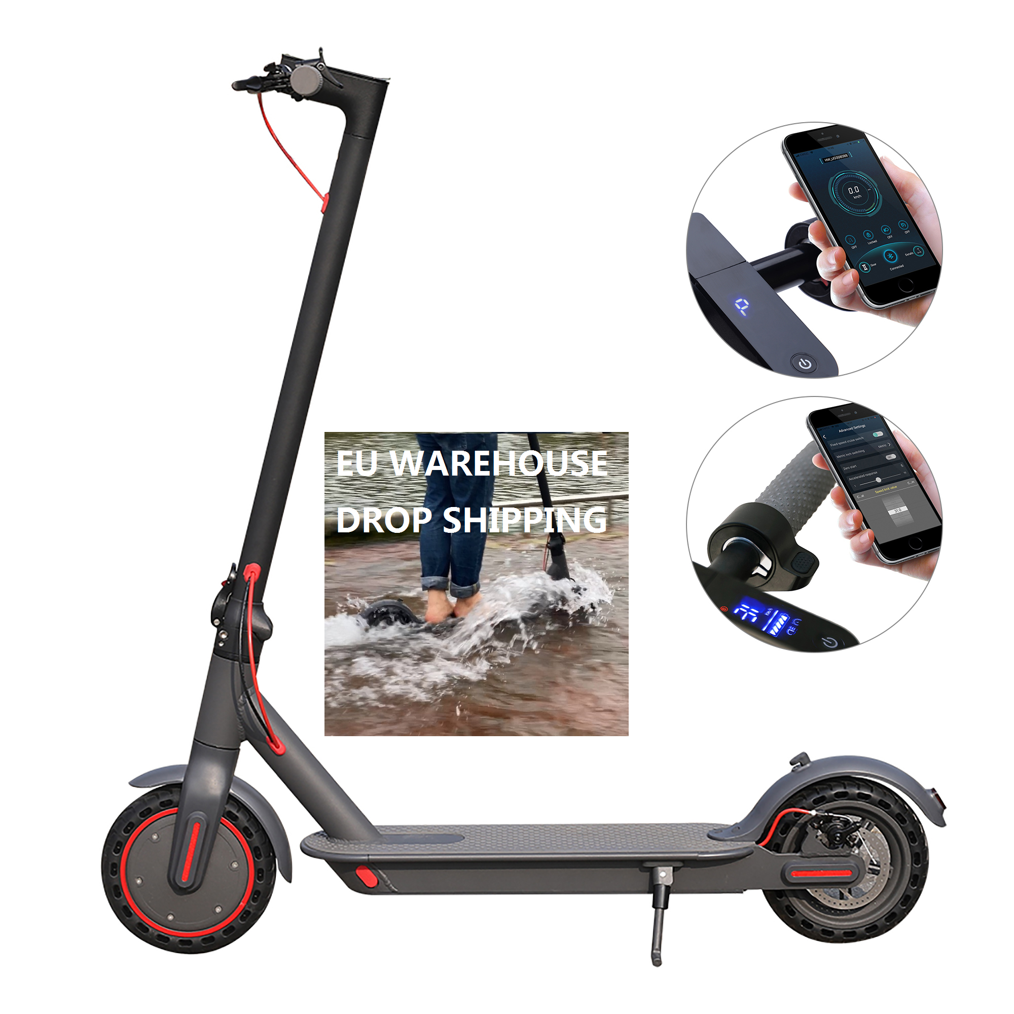 AOVOPRO Europe Poland Warehouse Drop Shipping 10.5Ah Battery 35KM Range M365Pro With Smart APP Foldable Adult <strong>Electric</strong> Scooter