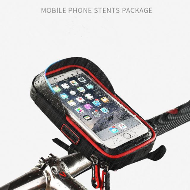Bike Phone Mount Bicycle Cell Phone Holder Handlebar Bag Anti-Shake Waterproof with 360 Rotation