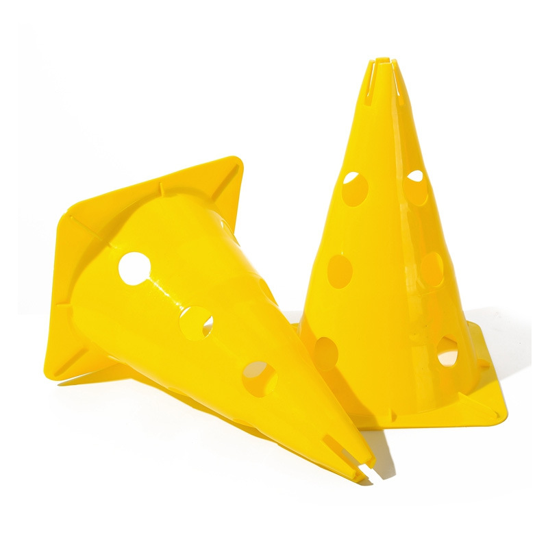 12 inch Kid Training Cone Football Marker Cone Soccer Sport Marker Cones With Holes