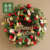 LED Christmas Wreath  with Christmas ball Trinket and Leaf wood