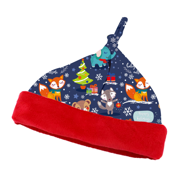 <strong>Christmas</strong> New Arrival 10 Hat Designs Plush Blue <strong>Christmas</strong> Baby Hat