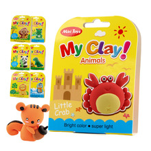 Mikatale educational toy non-toxic Air dry modeling clay lightweight soft clay magic DIY creative air dry clay
