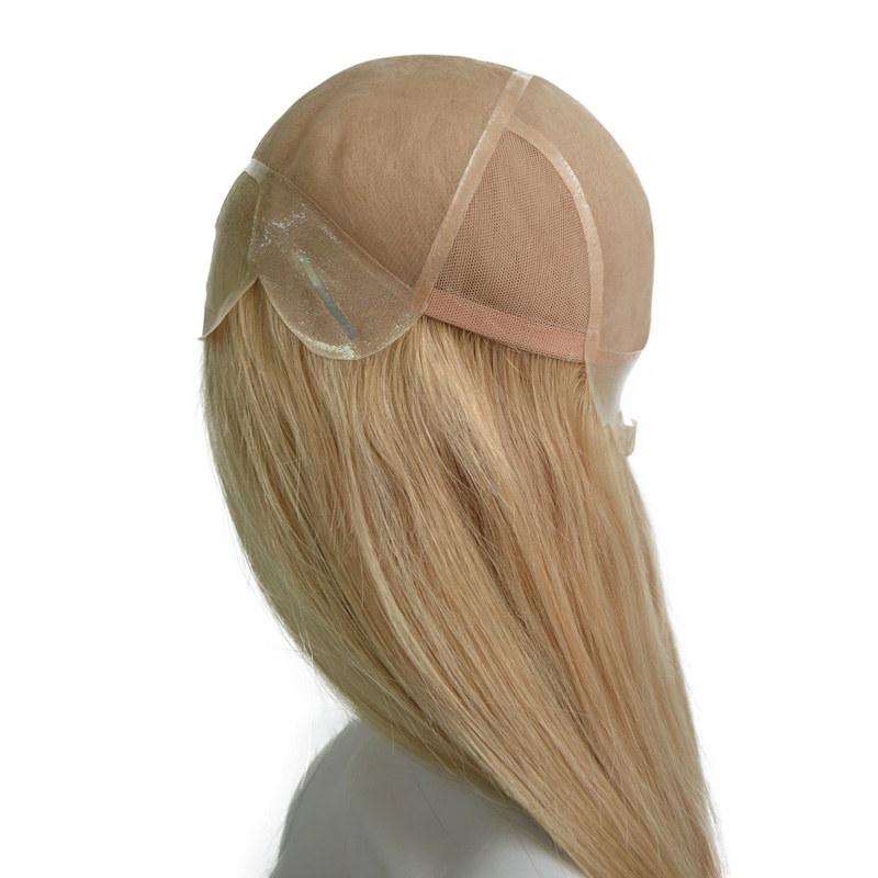 European Virgin Hair Full Swiss Lace Wig With Silk Top In The Front