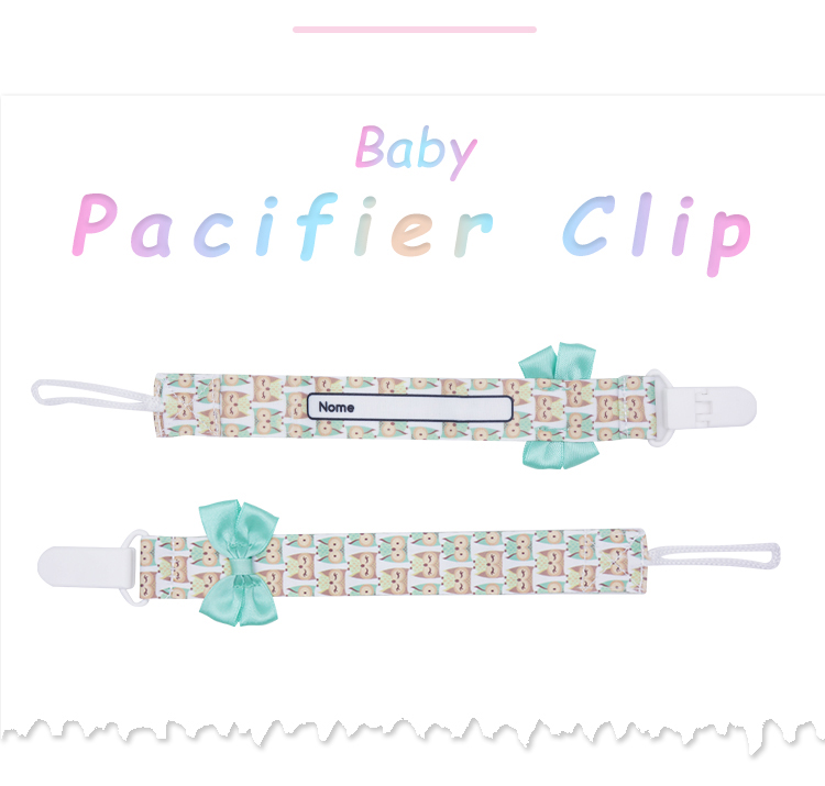 2019 Baby holds clip brown silicone pacifier clip