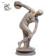 discount price classical roman greek famous stone sculpture white marble Bare Discus Thrower Statue for sale MSZD-43