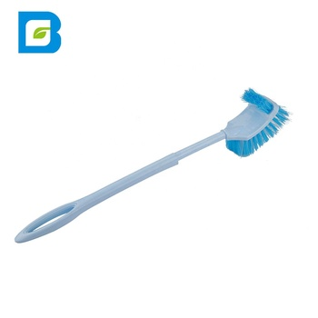 Amazon Abs Plastic Long Handle Bathroom Wc Toilet Double Sided Cleaning Toilet Cleaning Brush