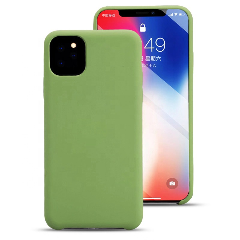 Silicone Oil Coating Feel 2.0mm Thick Soft Microfiber TPU Cell <strong>Phone</strong> Covers Case for Apple iPhone 11 Pro Max XS XR X 8 Plus 7 6s