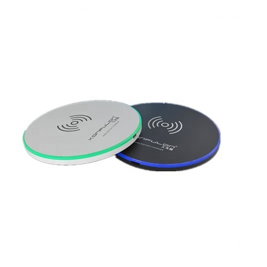 Konfulon LED light 5W 10w mobile <strong>phone</strong> charger Wireless Charging pad quick charge for qi mobile <strong>phone</strong>