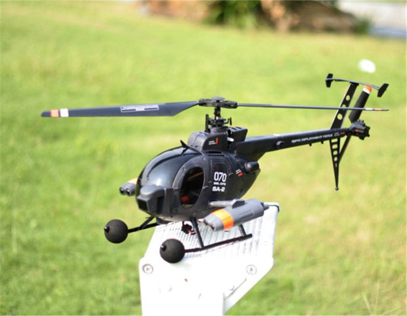 Original FX070C 2.4G 4CH 6-Axis Gyro Flybarless MD500 Scale RC Helicopter