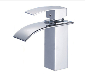 brass tap bathroom washbasin waterfall faucet (C55)
