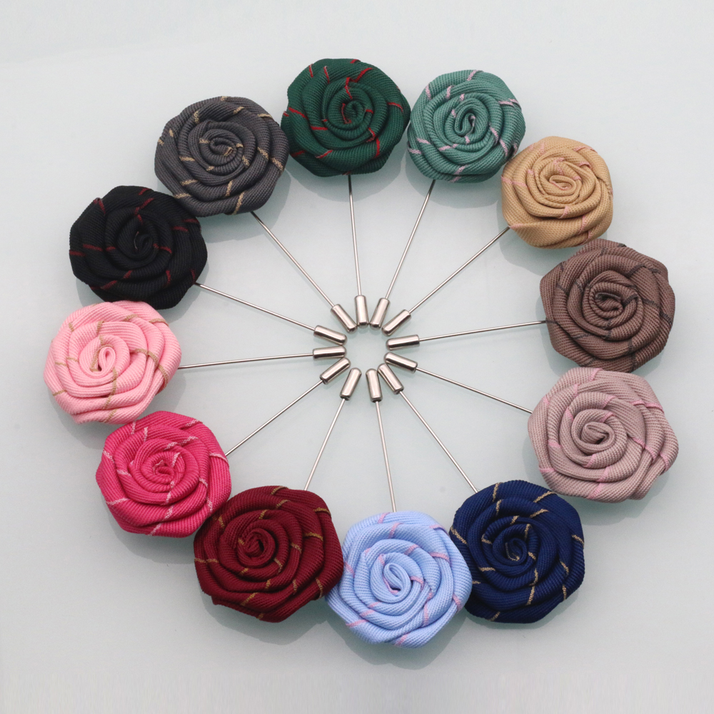 Amazon Hot Selling <strong>Mens</strong> Rose Flower Brooch Lapel Pin For Suit Accessories