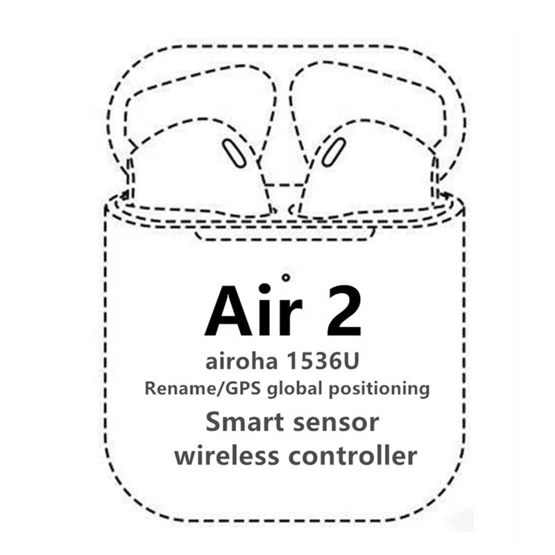 wireless earbuds i200 i500 TWS Airoha 1536U gen 2 Light Sensor Original <strong>air</strong> 2 with Rename and GPS earphone